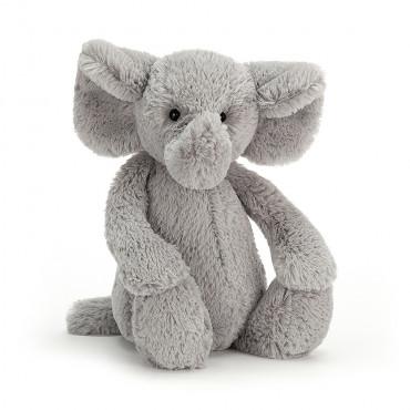 Peluche éléphant bashful - Gris