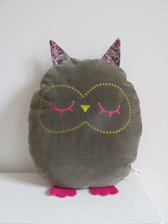 Coussin hibou Olly